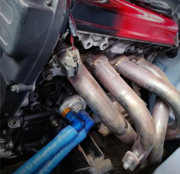 EXHAUST MANIFOLD ON 20V 4AG.