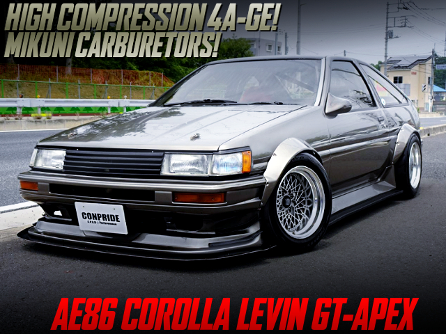 HIGH COMP 4AG With CARBS INTO AE86 LEVIN WIDEBODY.