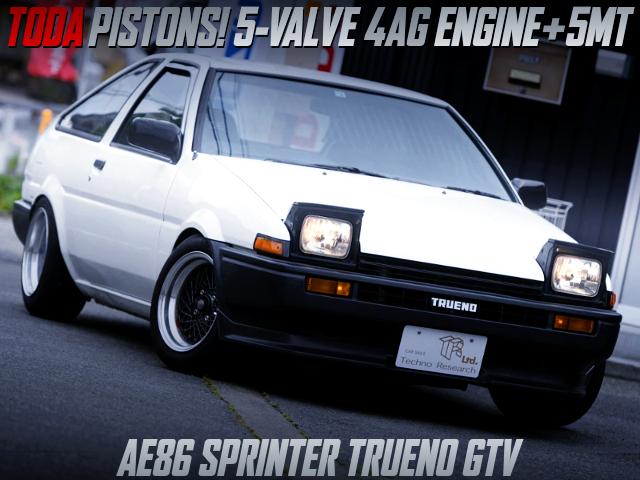 TODA PISTONS INTO 5-VALVE 4AG SWAPPED AE86 TRUENO GTV HATCH.