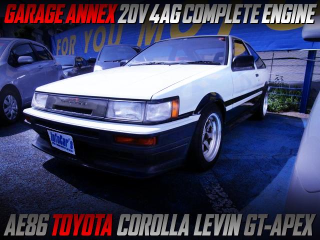 ANNEX 20V 4AG COMPLETE ENGINE INTO AE86 COROLLA LEVIN GT-APEX.