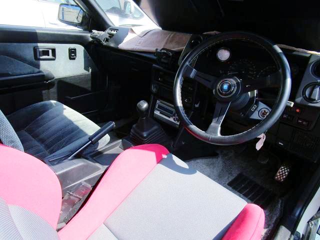 INTERIOR DASHBOARD OF AE86 LEVIN HATCH.