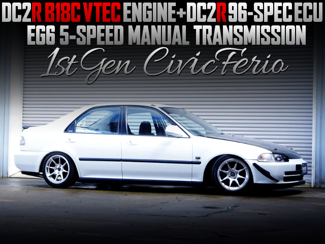 DC2R B18C AND ECU SWAPPED EG CIVIC FERIO WHITE.