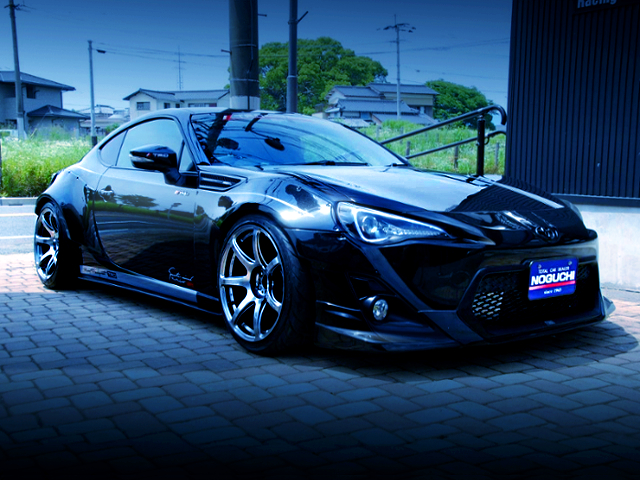 FRONT EXTERIOR OF TOYOTA 86 WIDEBODY.