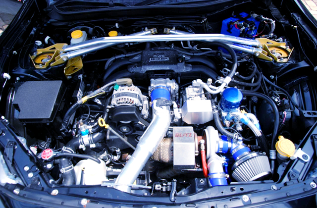 FA20 BOXER ENGINE With BLITZ B06-380R TURBOCHARGER.