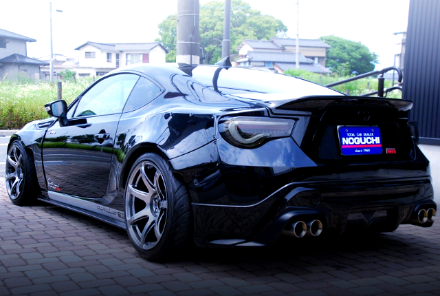 REAR EXTERIOR OF TOYOTA 86 WIDEBODY.