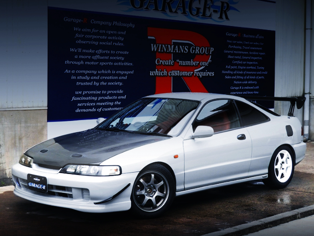 FRONT EXTERIOR OF DC2 INTEGRA TYPE-R SILVER.
