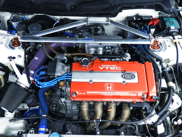 FEEL'S HONDA TWINCAM BUILT B18C COMPLETE ENGINE.