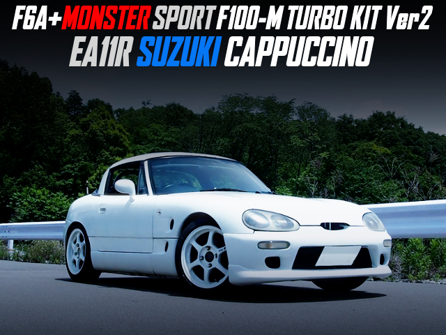 MONSTER SPORT F100-M TURBO KIT Ver2 INSTALLED TO EA11R SUZUKI CAPPUCCINO WHITE.