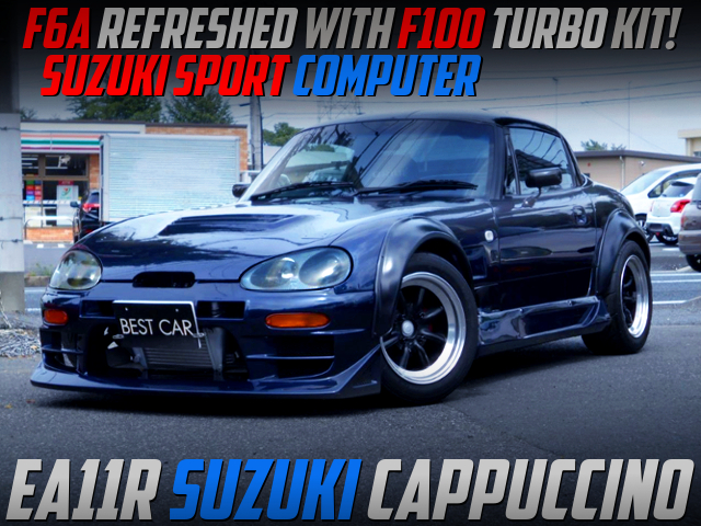 F6A REFRESHED With F100 TURBO KIT INTO EA11R SUZUKI CAPPUCCINO WIDEBODY.