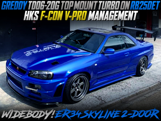TD06-20G TOP-MOUNT TURBO AND WIDEBODY BUILT OF ER34 SKYLINE 2-DOOR.