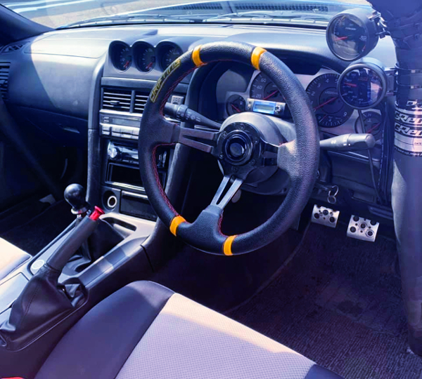 DRIFTING STEERING AND AFTERMARKET GAUGES
