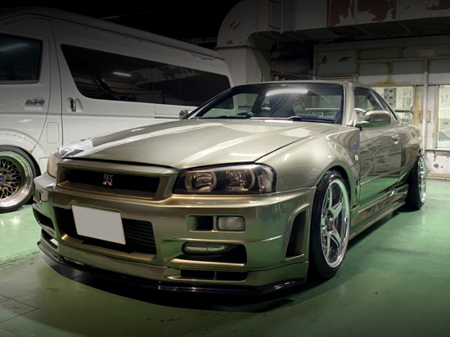FRONT EXTERIOR OF GT-R FACE CONVERSION TO ER34.