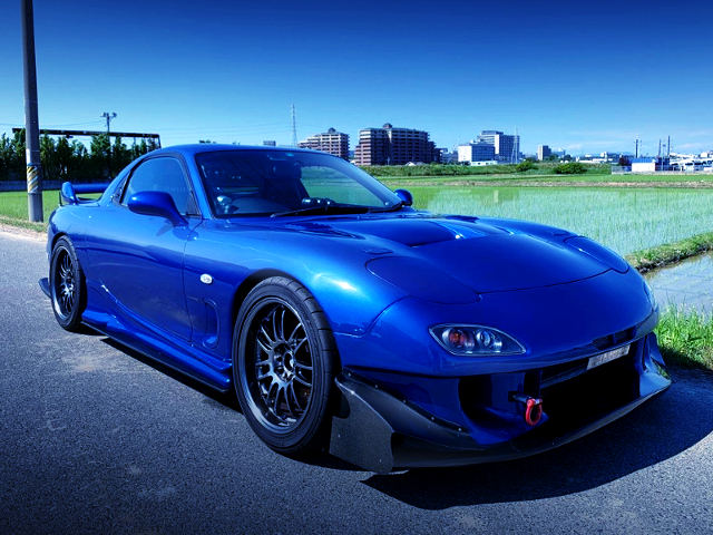 FRONT EXTERIOR OF FD3S RX-7 BLUE.