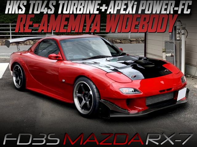 TO4S TURBO AND RE AMEMIYA WIDEBODY BUILT OF FD3S RX-7.