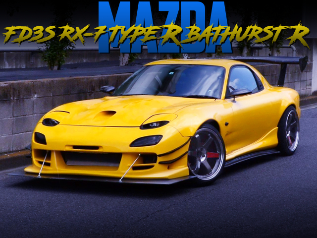 WIDEBODY AND GREDDY V-MOUNT INTO FD3S RX-7 TYPE-R BATHURST-R YELLOW.