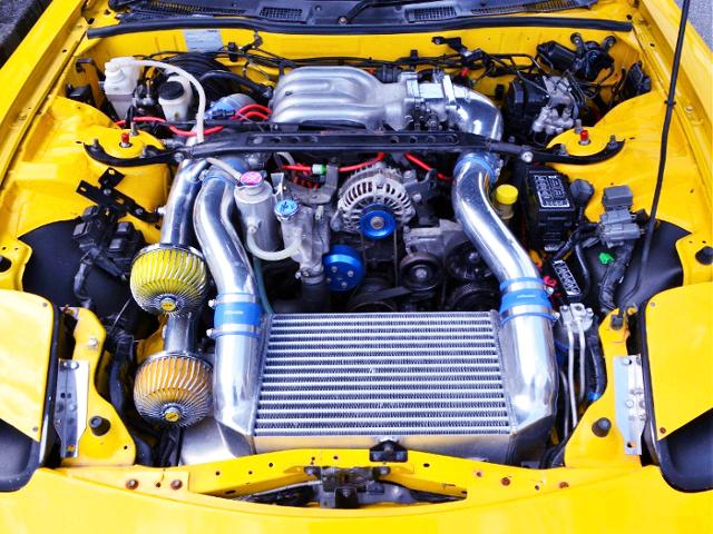 GREDDY V-MOUNT KIT ON 13B-REW ROTARY ENGINE.