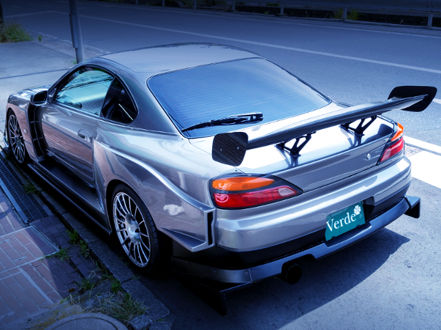 REAR EXTERIOR OF S15 SILVIA With G-SONIC EVOLUTION WIDEBODY.