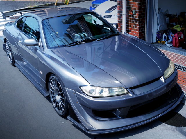 FRONT EXTERIOR OF S15 SILVIA With G-SONIC EVOLUTION WIDEBODY.