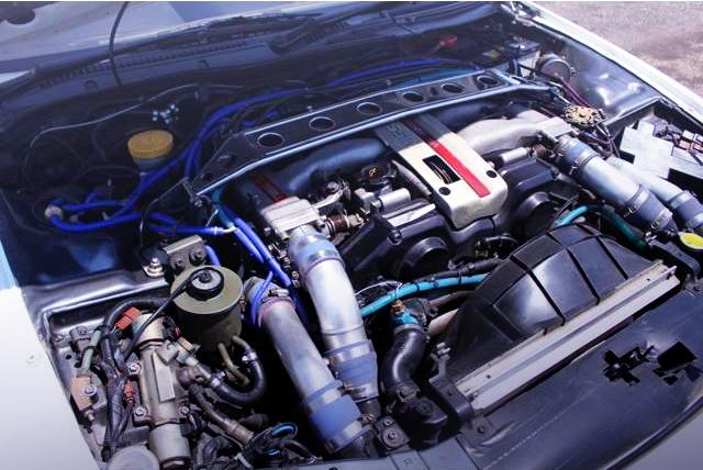 VG30DETT 3-LITER TWIN TURBO V6 ENGINE OF Z32 MOTOR.