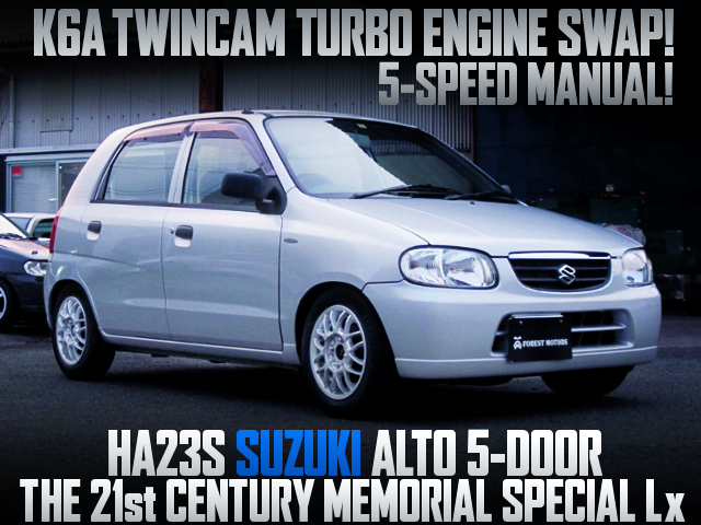 K6A TURBO SWAP AND 5MT INTO HA23S ALTO 21st CENTURY MEMORIAL SPECIAL Lx.