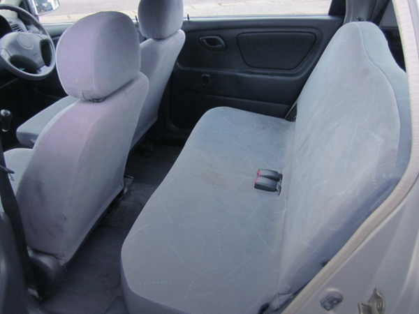 GENUINE FRONT SEATS AND BACKSEAT.