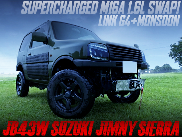 SUPERCHARGED M16A 1.6 LITER SWAP WITH LINK G4 PLUS MONSOON INTO JB43W JIMNY SIERRA.