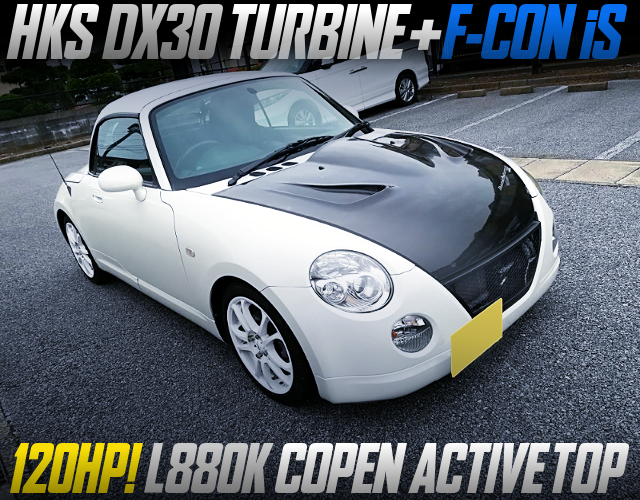 JB-DET With DX30 TURBO AND F-CON iS INTO L880K COPEN ACTIVE TOP WHITE.