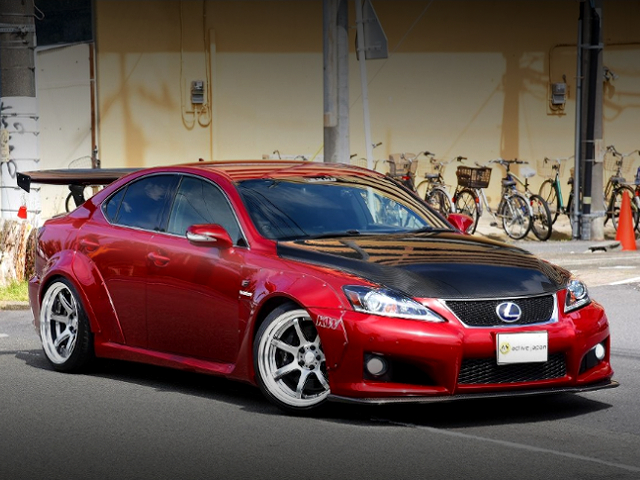 FRONT EXTERIOR OF USE20 LEXUS IS-F TO RED.