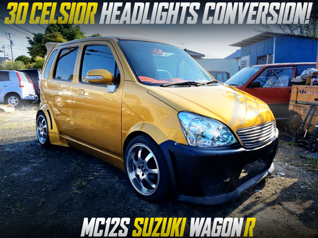 30 CELSIOR HEADLIGHTS CONVERSION TO MC12S WAGON-R GOLD COLOR.