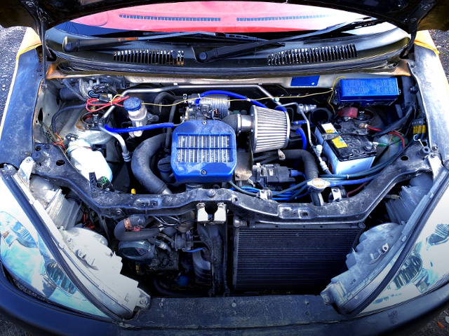 SOHC F6A TURBO ENGINE OF MC12S WAGON-R MOTOR.