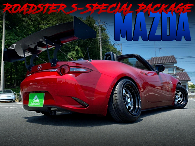 CAMBER AND STANCE CUSTOMS OF ND5RC MAZDA ROADSTER S-SPECIAL PACKAGE.