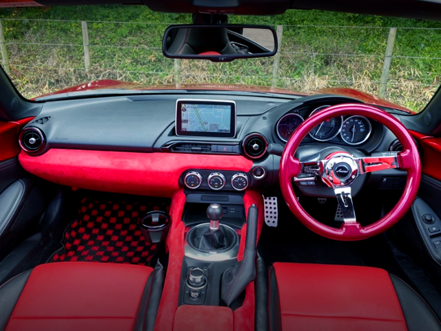 CUSTOM INTERIOR OF ND5RC MAZDA ROADSTER S-SPECIAL PACKAGE.