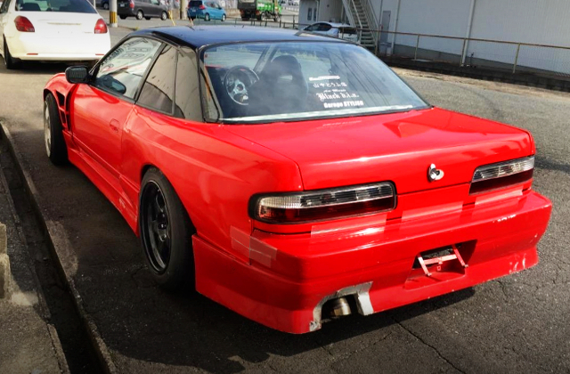 REAR EXTERIOR OF S13 ONEVIA WIDEBODY TO RED.