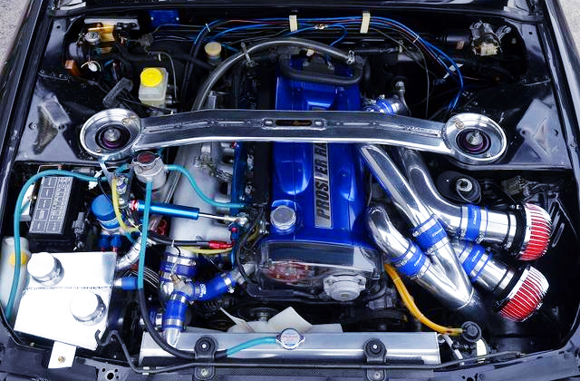 FULLY BUILT RB26 TWINTURBO ENGINE.