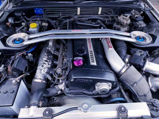 RB26 TWINTURBO ENGINE.
