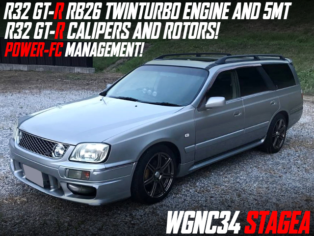 RB26 TWINTURBO AND 5MT AND BRAKES INTO WGNC34 STAGEA.