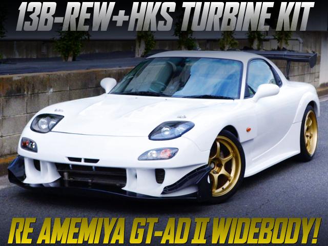 HKS TURBINE KIT AND RE-AMEMIYA GT-AD2 WIDEBODY OF FD3S RX-7.