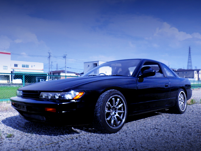 FRONT EXTERIOR OF S13 SILVIA BLACK.