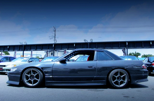LEFT SIDE EXTERIOR OF S13 SILVIA K's GREY PAINT.