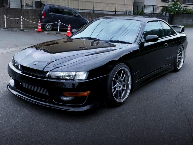 FRONT EXTERIOR OF FACELIFT S14 SILVIA Qs.