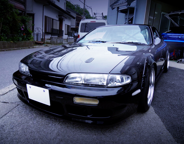 FRONT EXTERIOR OF S14 SILVIA SERIES-1 Q'S.