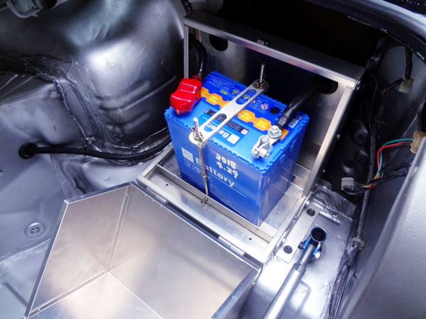 BATTERY RELOCATION AND ALUM BATTERY BOX.