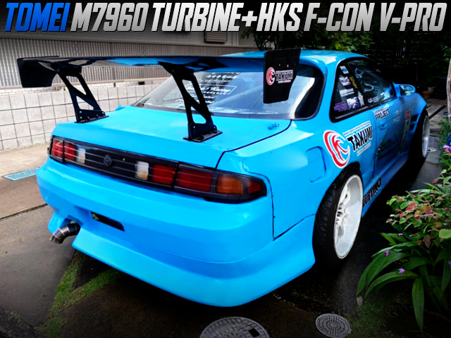 SR20DET With M7960 TURBINE AND F-CON V-PRO OF S14 SILVIA WIDEBODY.