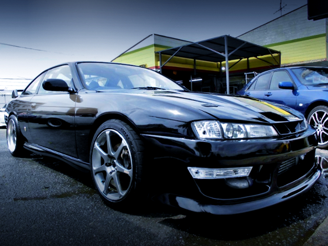 FRONT EXTERIOR OF FACELIFT S14 SILVIA.