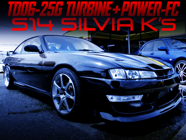 SR20DET With TD06-25G AND POWER-FC INTO FACELIFT S14 SILVIA K's.