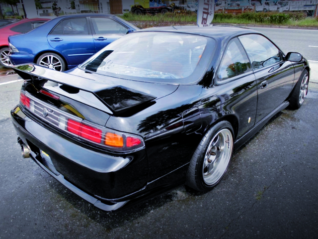 REAR EXTERIOR OF FACELIFT S14 SILVIA K'S.