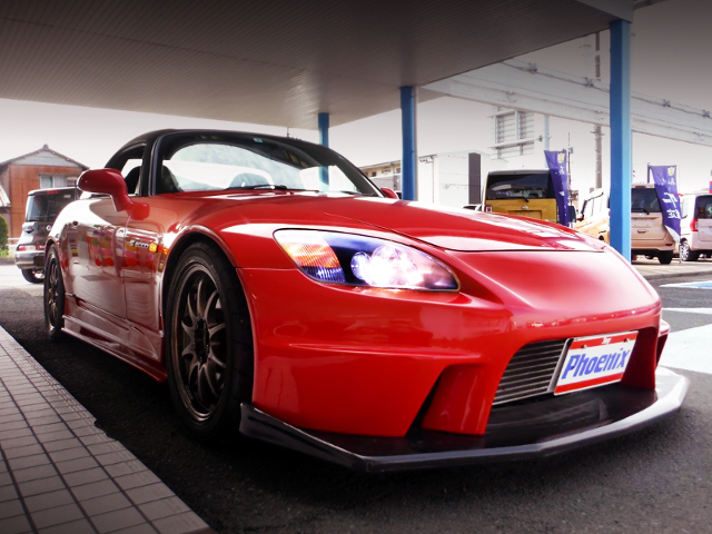 FRONT EXTERIOR OF AP1 S2000 RED.