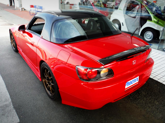 REAR EXTERIOR OF AP1 S2000 RED.