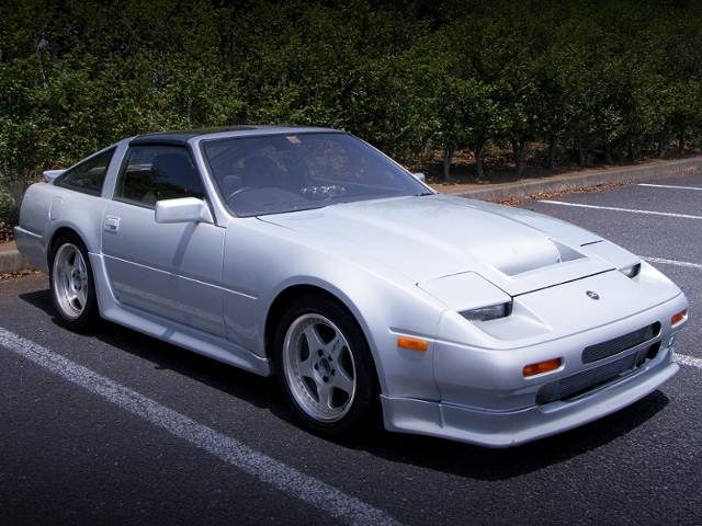 FRONT EXTERIOR OF Z31 FAIRLADY Z TO SILVER.