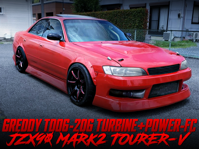 TD06-20G AND POWER-FC INTO JZX90 MARK2 TOURER-V RED PAINT.